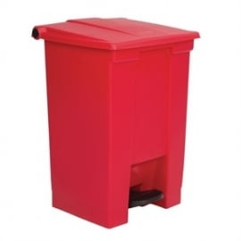 K816 - Rubbermaid afvalcontainer rood 45.5ltr