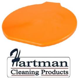 316106102-7 - FBK Deksel voor emmer 15 liter hoogwaardige kleurcode HACCP hygiënische polypropyleen oranje 80111