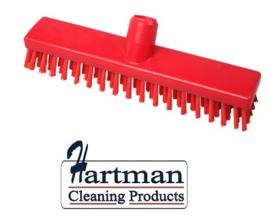 32510104-3 - FBK HACCP kleurcode schrobber met harde vezels geschikt voor hardnekkige reiniging van vloeren en wanden 300 x 60 mm, hard, rood 23153