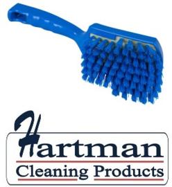 110151011-2 - FBK Polyester handborstel vezels in hars gegoten kleurcode HACCP 275 mm x 70 mm medium blauw 90546