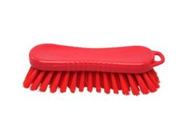 20030124-3 - Polyester werkborstel kleurcode HACCP 210 mm x 70 mm medium vezel rood 10564