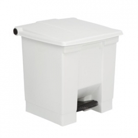 K805 - Rubbermaid afvalcontainer wit 30.5ltr
