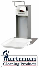 8070 - Zeep- & Desinfectiedispenser 500 ml RVS LB + opvangschaal, MediQo-line MQLTD05E