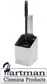 21336600 AFP-C - RVS AFP-C toiletborstelhouder open, WBU 2 E SanTral