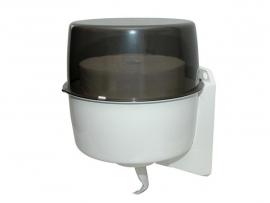 437300 - Unibox dispenser kunststof met rookglas voor industrierollen vanuit de kern