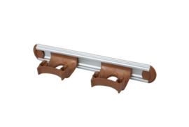 700102104-12 - Wand FBK railophangsysteem kleurcode HACCP aluminium 300 mm 2x klem bruin 15158