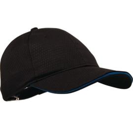 B171 - Cool Vent baseball cap zwart en blauw