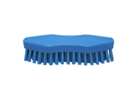 23430129-2 - FBK Polyester werkborstel kleurcode HACCP 180 mm x 60 mm harde vezel blauw 15062