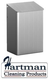 8200 - Afvalbak 6 liter gesloten aluminium, MediQo-line MQWB6A