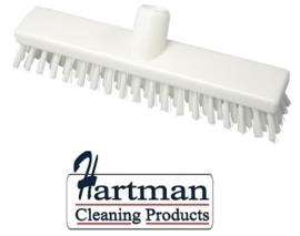 32510104-1 - FBK HACCP kleurcode schrobber met harde vezels geschikt voor hardnekkige reiniging van vloeren en wanden 300 x 60 mm, hard, wit 23153