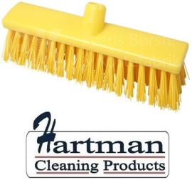 22110129-4 - FBK Hoogwaardige kleurcode HACCP Polyester hygiënische kunststof extra harde bezem 300 x 60 mm geel 23187