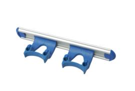 700102104-2 - Wand railophangsysteem kleurcode HACCP aluminium 300 mm 2x klem blauw 15158