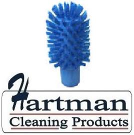 40620102-2 - FBK Hoogwaardige kleurcode HACCP hygiënische kunststof medium wormhuisborstel Ø 70 mm blauw 27131