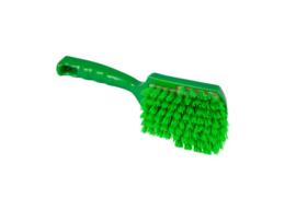 119151012-5 -Polyester FBK handborstel vezels in hars gegoten kleurcode HACCP 275 mm x 70 mm hard groen 90548