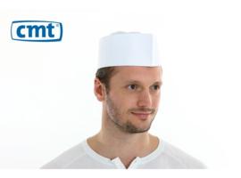 F010 - CMT fourage muts, papier, effen wit met geperforeerde kroon