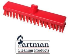 31810101-3 - FBK HACCP kleurcode schrobber met harde vezels geschikt voor hardnekkige reiniging van vloeren en wanden 280 x 50 mm, hard, rood 20153