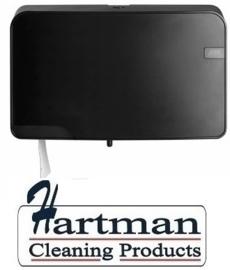 441057 - Quartz-Line Duo Mini Jumbo Toiletrol Dispenser (Mat Zwart)