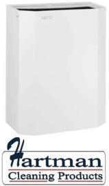 11040 - Afvalbak open 25 liter wit Staal Wit gepoedercoat PPA2279 Dutch Bins