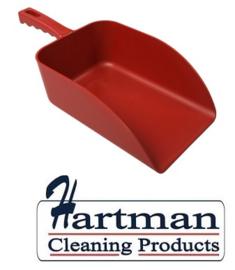 913141018-3 - FBK Hoogwaardige handschep polypropyleen 1000 gram 160 x 230 x 260 mm metaal detecteerbaar rood 75107