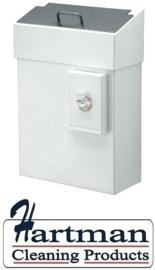 8255 - Hygiëneafvalbak 10 liter wit + zakjeshouder, MediQo-Line MQHB10P