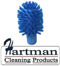 40120103-2 - FBK Hoogwaardige kleurcode HACCP hygiënische kunststof medium wormhuisborstel Ø 80 mm blauw 27132