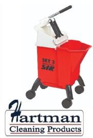 992360 - SYR Sky 3 Combo mobile mopsysteem met geïntegreerde wringer 10 liter kleurcode rood