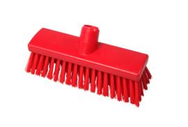 215161011-3  - Inwasborstel waterdoorlatend FBK hoogwaardige kleurcode HACCP FBK hygiënische polyester 250 x 60 mm gespleten vezel zacht rood 22155