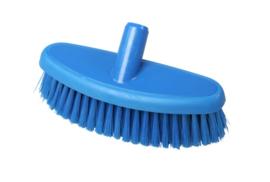 742161006-2 - Hoogwaardige kleurcode HACCP hygiënische kunststof wasborstel waterdoolatend uit 1 stuk , medium vezels 265 x 90 mm, blauw 24144