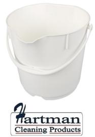 300106102-1 - FBK Emmer hoogwaardige kleurcode HACCP hygiënische polypropyleen 9 liter wit 80102