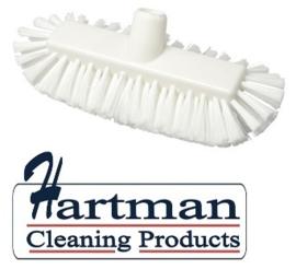 205161008-1 - FBK Inwasborstel waterdoorlatend hoogwaardige kleurcode HACCP FBK hygiënische polyester 290 x 130 mm gespleten vezel zacht wit 29105