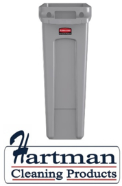 F649 -  Rubbermaid Slim Jim container met luchtsleuven 87 liter