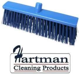 22410133-2 - Hoogwaardige FBK kleurcode HACCP Polyester hygiënische kunststof harde bezem 400 x 60 mm blauw 25190
