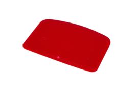 61880116 - Hoogwaardige kleurcode HACCP hygiënische deegschraper 146 x 98 mm rood