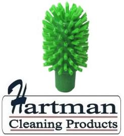 40620102-5 - FBK Hoogwaardige kleurcode HACCP hygiënische kunststof medium wormhuisborstel Ø 70 mm groen 27131