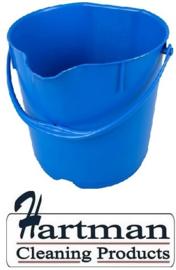 300106102-2 - FBK Emmer hoogwaardige kleurcode HACCP hygiënische polypropyleen 9 liter blauw 80102