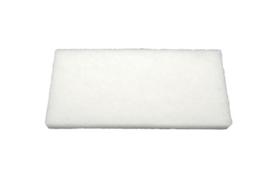 40015123 - Hoogwaardige  schuurpad extra zacht 250 x 120 x 25 mm per 12 stuks , wit 15123