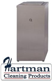7160 - RVS afvalbak 30 liter gesloten, QWBC30 SSL