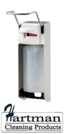 8030 - Zeep- & desinfectiemiddeldispenser RVS 500 ml LB, MediQo-line MQL05E
