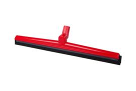 19612120-3 - FBK HCS Vloertrekker met zwenkbare kop en vervangbare zwart rubber 600 mm, rood 28656
