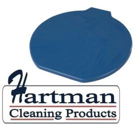40570116-2 - FBK Deksel voor 9 liter emmers hoogwaardige kleurcode HACCP hygiënische metaal detecteerbaar blauw 70112