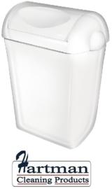 5656 - Kunststof afvalbak 43 liter + swing deksel, PQSA43 PlastiQline