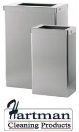 S1413896 - Santral classic open RVS afvalbak 50 liter