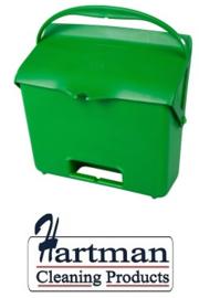 410101104-5 - Hotelstofblik met handgreep hoogwaardige kleurcode hygiënische polypropyleen  groen 80205