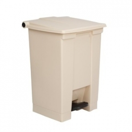 K808 - Rubbermaid afvalcontainer beige 45.5ltr