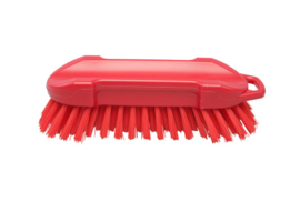 22530127-3 - FBK Polyester werkborstel kleurcode HACCP 210 mm x 65 mm harde vezel rood 54153