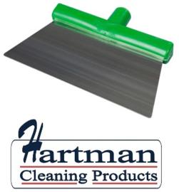 10080101-5- - FBK RVS schraper hoogwaardige kleurcode HACCP hygiënische 280 x 110 mm groen 28281