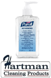P9663-12 - Gojo Purell advanced handsanitizer gel 12 x 300 ml pompflesje p/ds