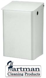 8225 - Afvalbak 15 liter gesloten wit, MediQo-line MQWB15P