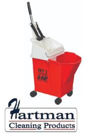 992345 - SYR Mobile mopsysteem met geïntegreerde wringer 8 liter kleurcode rood