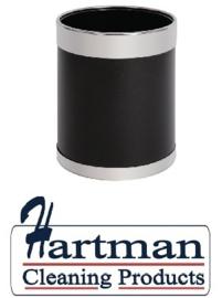 Y805 - Bolero prullenbak zwart met zilveren rand